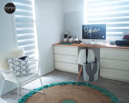 Diy Desk With 2 Drawers From Ikea Malm