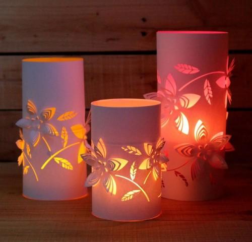DIY Dimensional Flower Paper Lanterns Shelterness V0iAJp2L