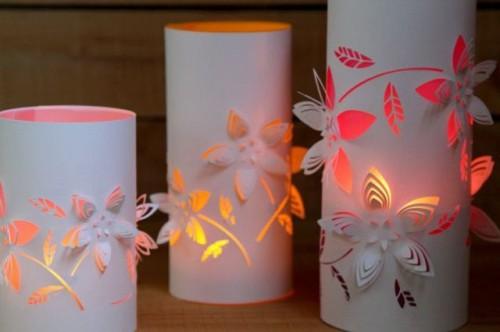 Diy Dimensional Flower Paper Lanterns Shelterness