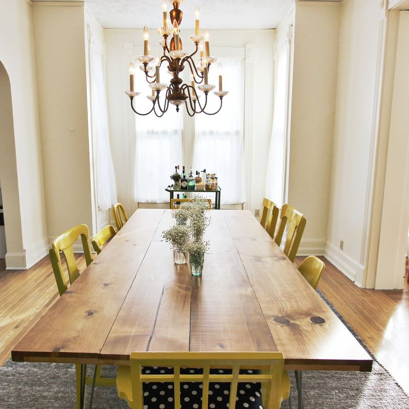 Picture Of Diy Dining Table With Trendy Hairpin Legs 6