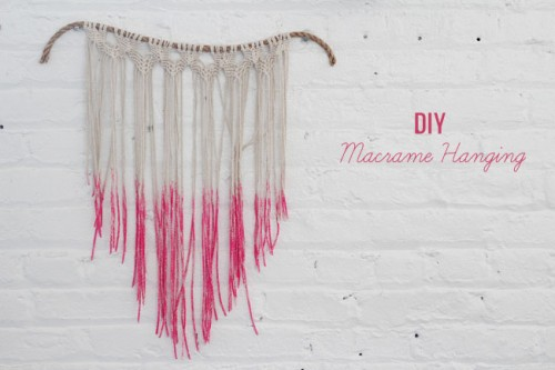 dipped macrame hanging (via greenweddingshoes)