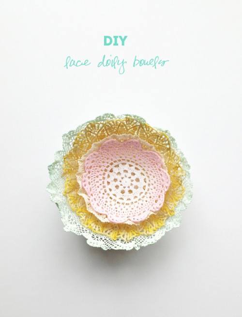 dipped lace doily bowl (via thesweetescape)