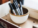 gold dipped bowl