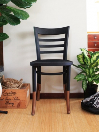 black and bronze chair