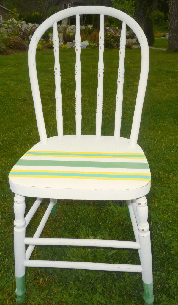 chalk and craft painted chair