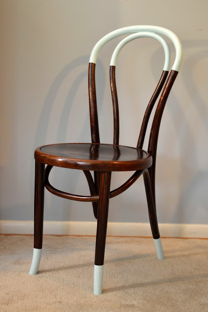 dipped bentwood chair