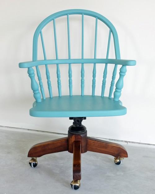dipped work armchair (via tealandlime)