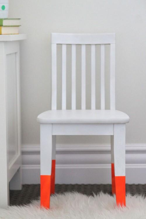 dip dye chair