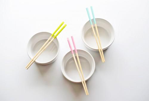 dipped chopsticks
