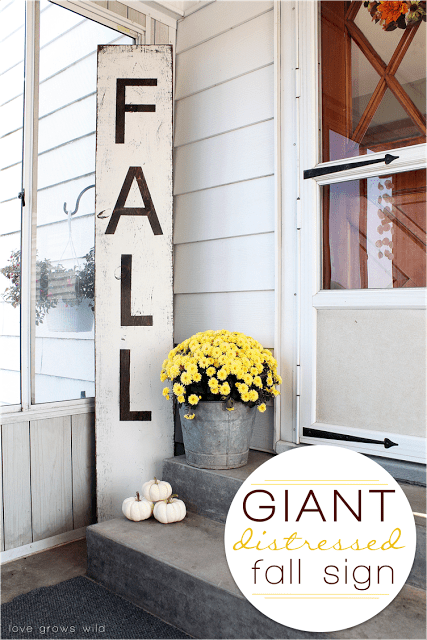 Diy Distressed Fall Sign For Outdoor Decor