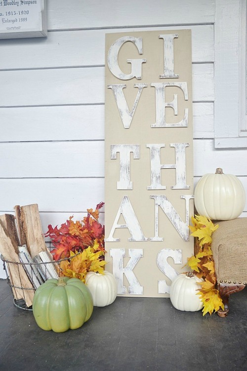Diy Distressed Thanksgiving Sign