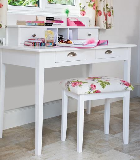 Desk Into Dressing Table Makeover (via Home Dzine)