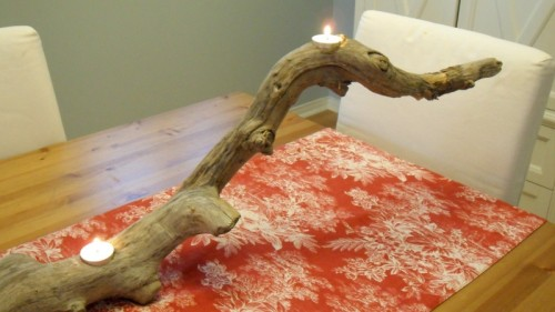 Diy Driftwood Candle Holder