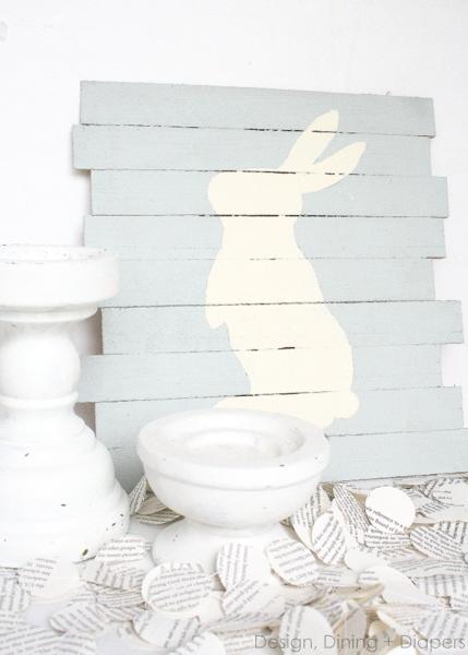 Easter bunny pallet art (via designdininganddiapers)