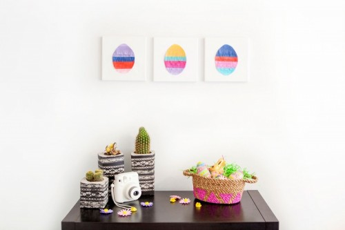 Easter egg wall art (via brit)