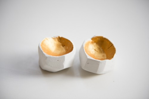 faceted clay egg cups (via kittenhood)