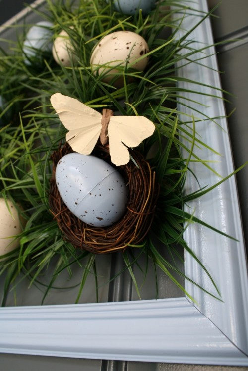 Diy Easter Egg Grass Wreath