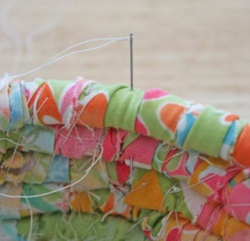 how to make a fabric easter basket