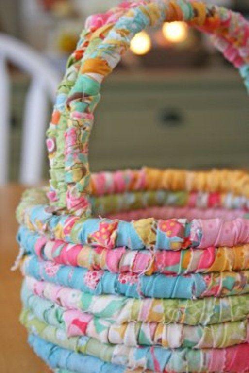 Handmade Basket Tutorial : Picture of diy easter fabric basket