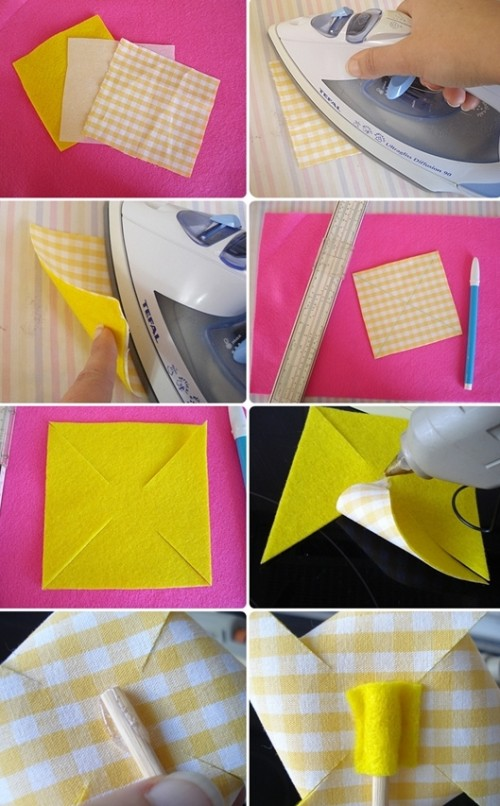 Diy Easter Fabric Pinwheels