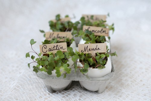 eggshell place card holders (via themerrythought)
