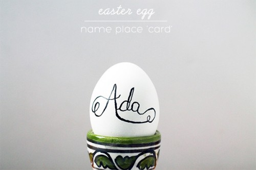 egg name place cards (via squirrellyminds)