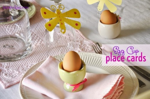 10 DIY Easter Place Cards And Card Holders To Make Shelterness – Easter Place Card Holders