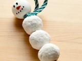 donut snowman favors