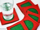 easy Christmas felt coasters