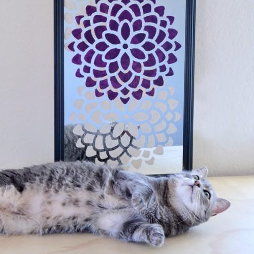 DIY Ed Roth Stenciled Mirror