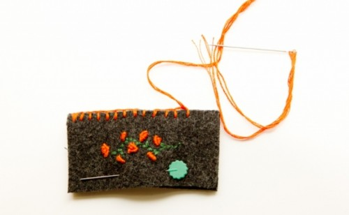 Diy Embroidered Business Card Sleeve