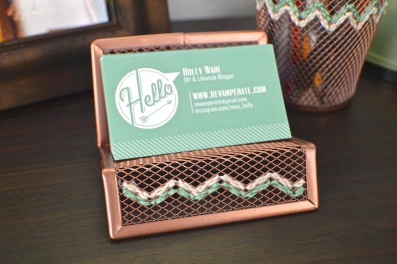 Picture Of diy embroidered copper desk accessories  2