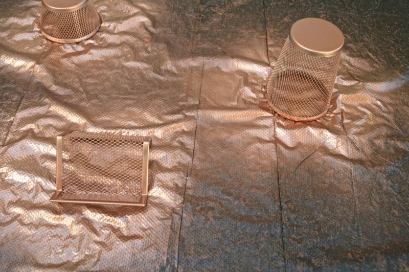 Picture Of diy embroidered copper desk accessories  3