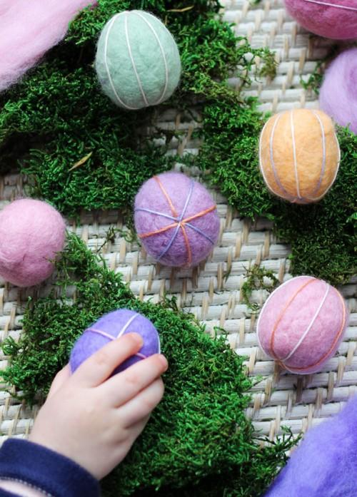 Diy Embroidered Felt Easter Eggs