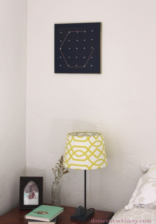 Diy Embroidered Polka Dots Wall Art