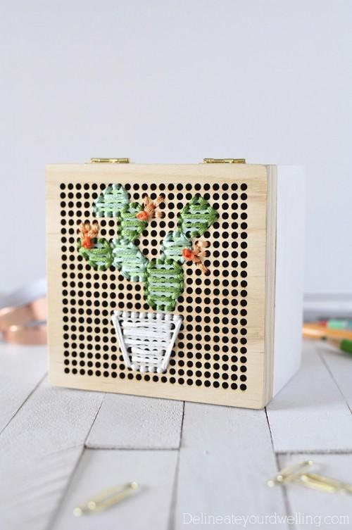 cacti embroider box (via shelterness)