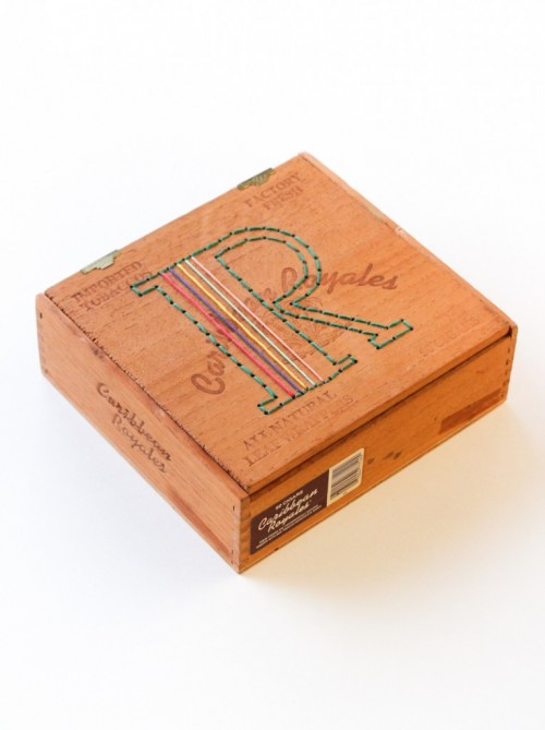 embroidered cigar box (via thecraftedlife)