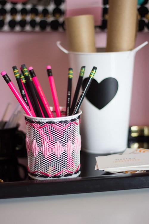 embroidered desk accessories (via designimprovised)