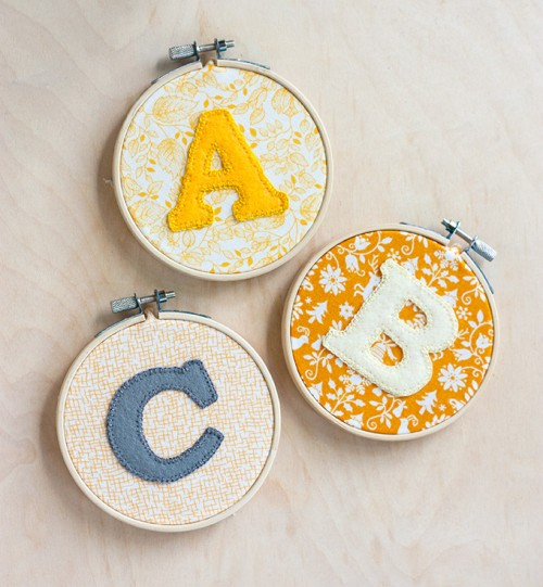 alphabet hoop art (via adventures-in-making)