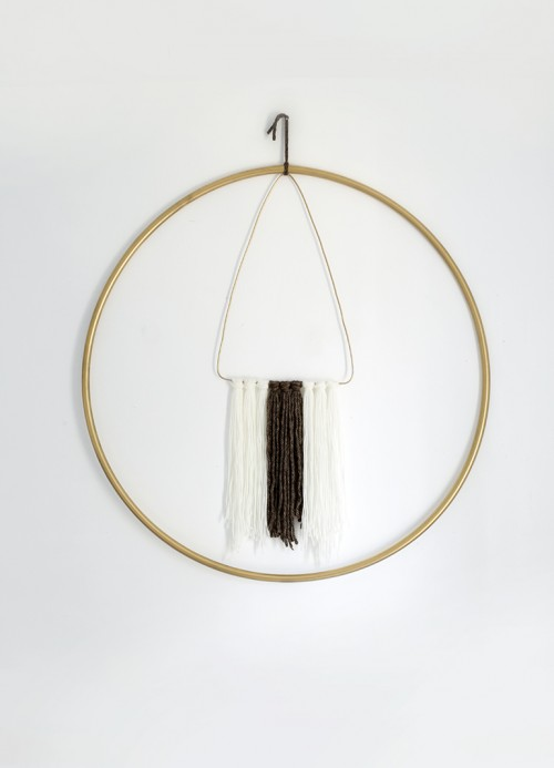 hoop wall hanging (via themerrythought)