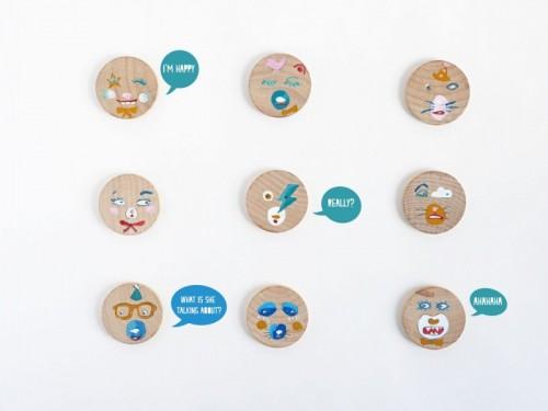 DIY Emotional Magnets Of Wood Circles