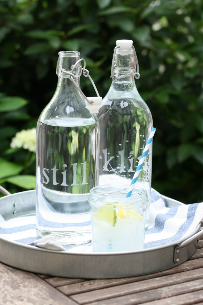 Diy Etched Glass Water Bottles