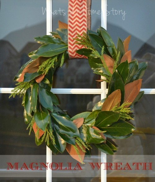 magnolia wreath (via whatsurhomestory)