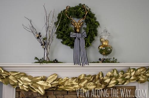 gold magnolia wreath (via viewalongtheway)