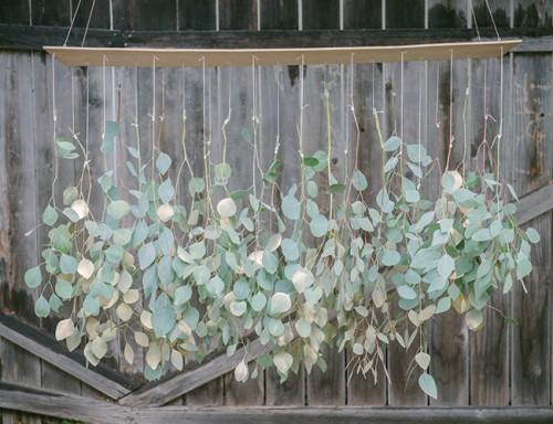 eucalyptus chandelier (via inspiredbythis)