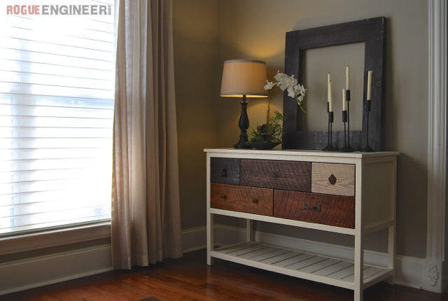 Picture Of diy eye catching reclaimed wood console table  1