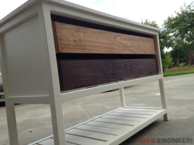 Picture Of diy eye catching reclaimed wood console table  5