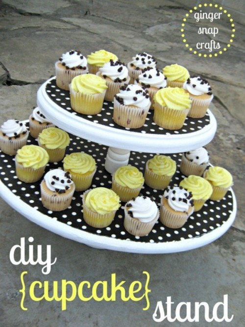 DIY Fabric Cupcake Stand