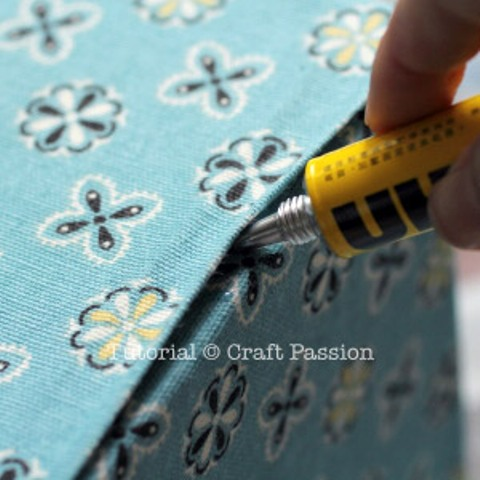 DIY Fabric Storage Box With A Handle