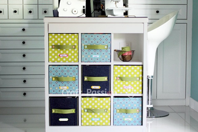 Picture Of diy fabric storage box with a handle  8